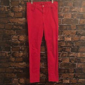 J Brand Maria High Rise Skinny Jean Red